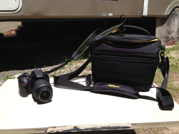 Our camera and bag