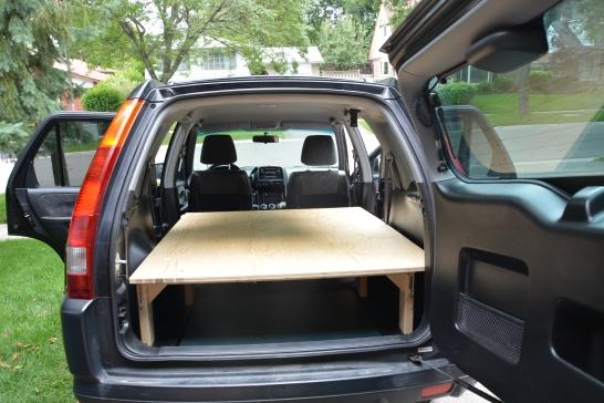 The plywood platform